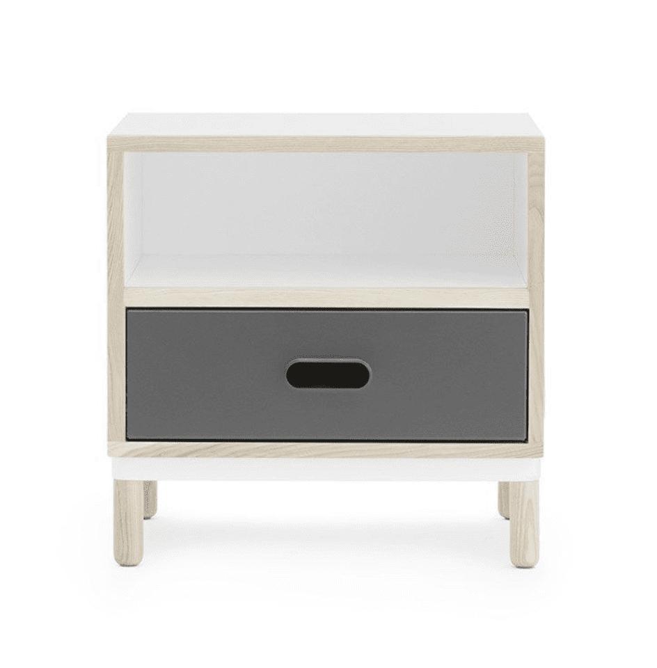 Normann Copenhagen - Kabino sengebord i grå